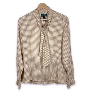Lauren Ralph Lauren check blouse -  size 10